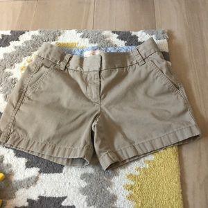 Khaki J.Crew Shorts